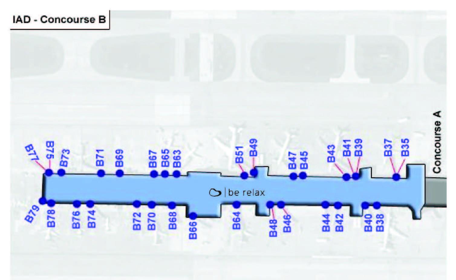 Dulles terminal b map - Karte von dulles terminal b ...