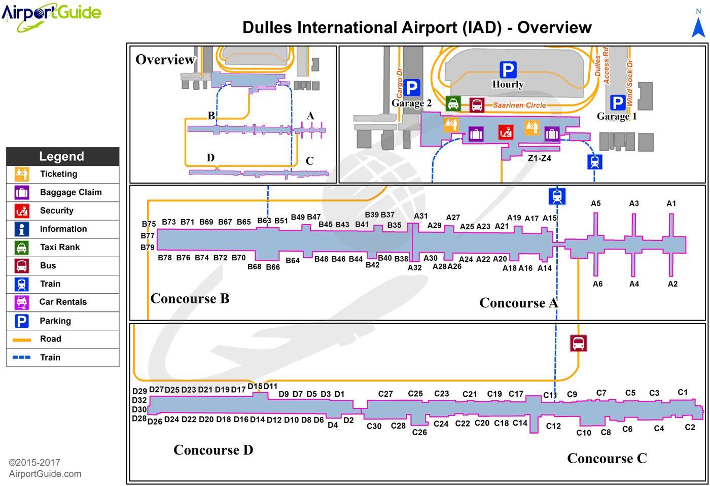 Iad airport Karte - Washington iad airport Karte (District ...