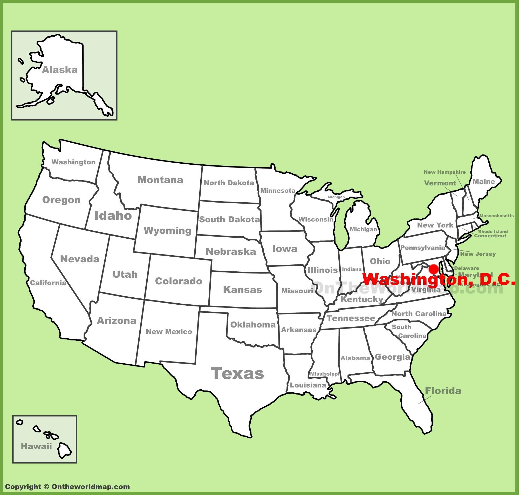 Vereinigte Staaten-map dc - Washington dc befindet ...