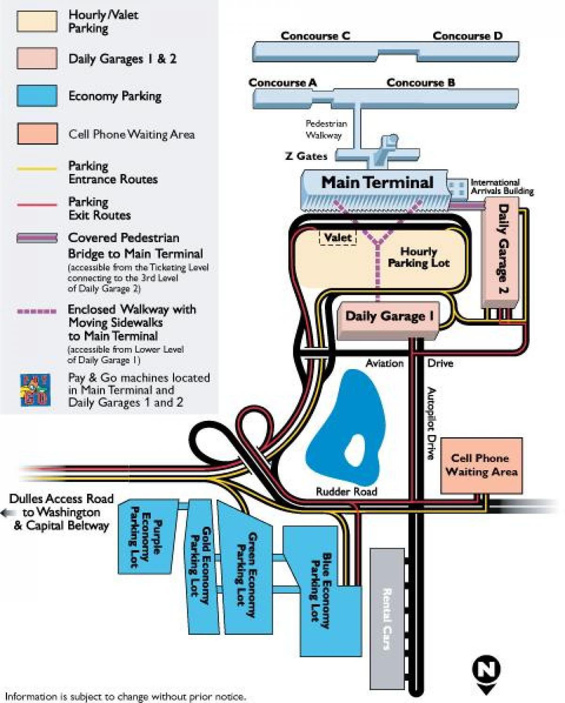 Iad Parken map - Karte von iad Parkplätze (District of ...