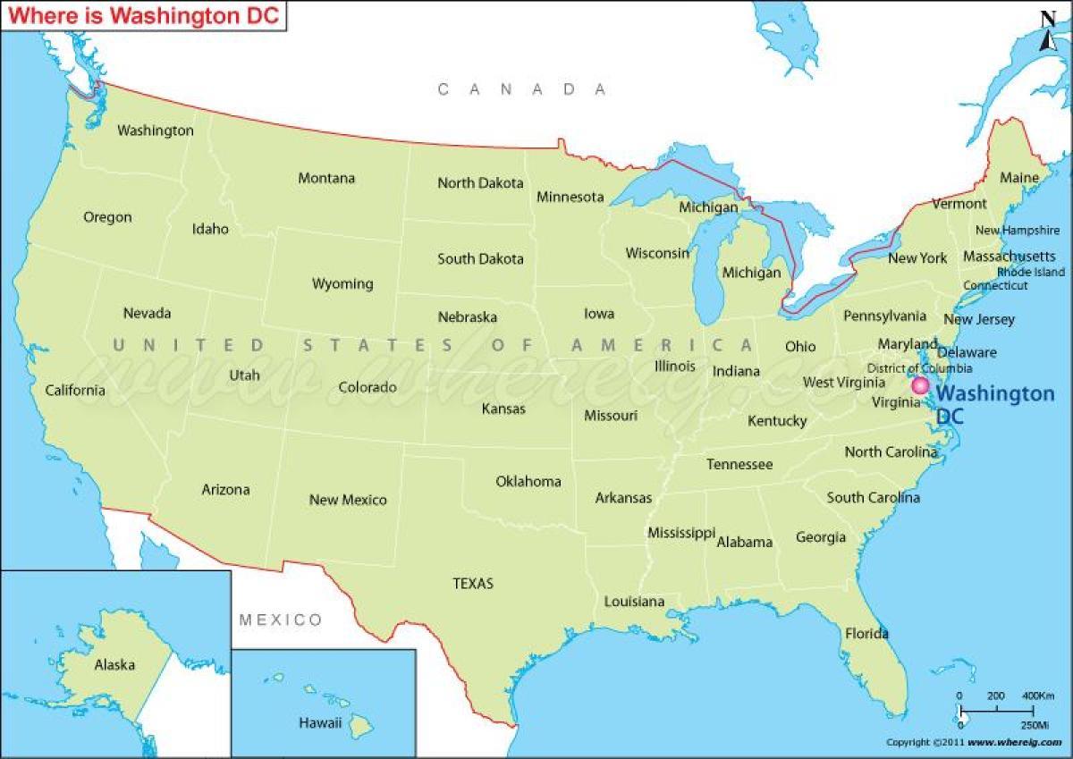 Us-Karte dc - Dc-us-Karte (District of Columbia, USA)