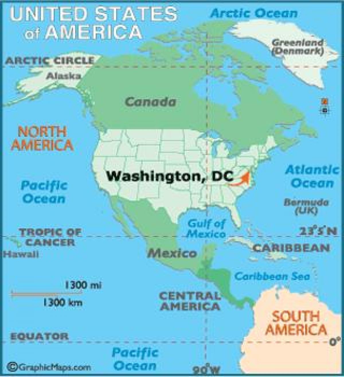 Washington Dc Auf Der Weltkarte Anzeigen Washington Auf Der